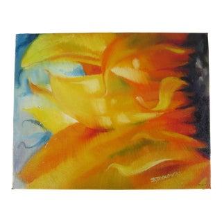 Vivid Sunflower Painting on Canvas Board