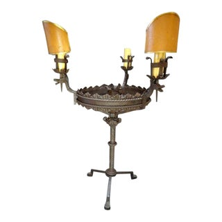 Spanish Revival Wrought Iron Table Lamp