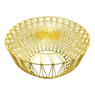 Yellow Bend Drum Ottoman