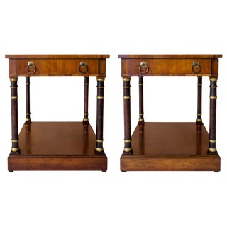 Neoclassical End Tables - A Pair