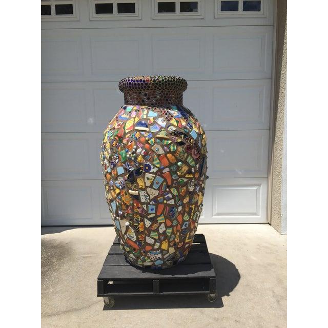 Decorative Mosaic Urn - Image 3 of 6