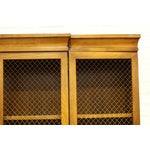 Image of Breakfront China Cabinet With Wire Doorfills