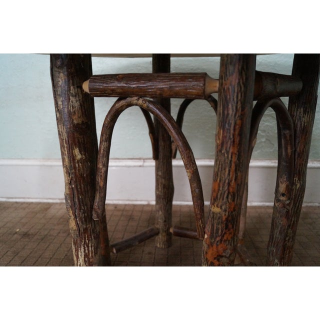 Old Hickory Rustic Tree Form, Round Dining Table - Image 5 of 10