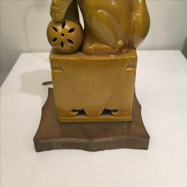 Image of Vintage Hollywood Regency Foo Dog Table Lamp