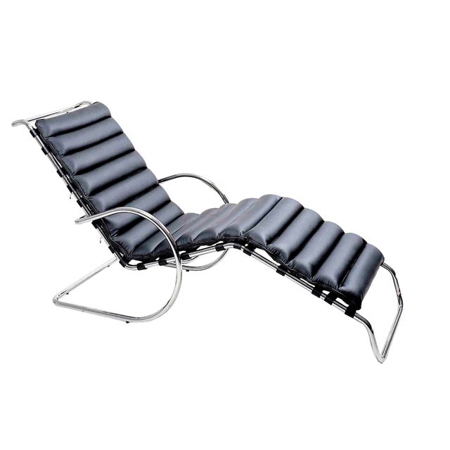 Mies van der rohe adjustable mr chaise lounge chairish - Mies van der rohe chaise ...