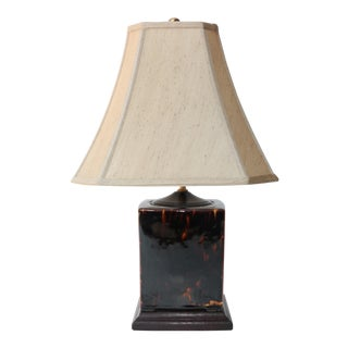 Asian Tortoiseshell Pottery Table Lamp