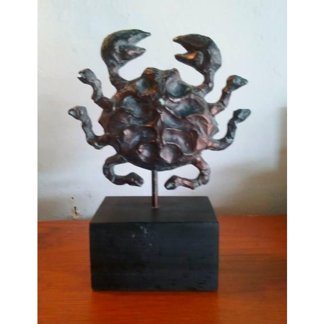 Image of Mid-Century AstroFab Zodiac Cancer Sculpture