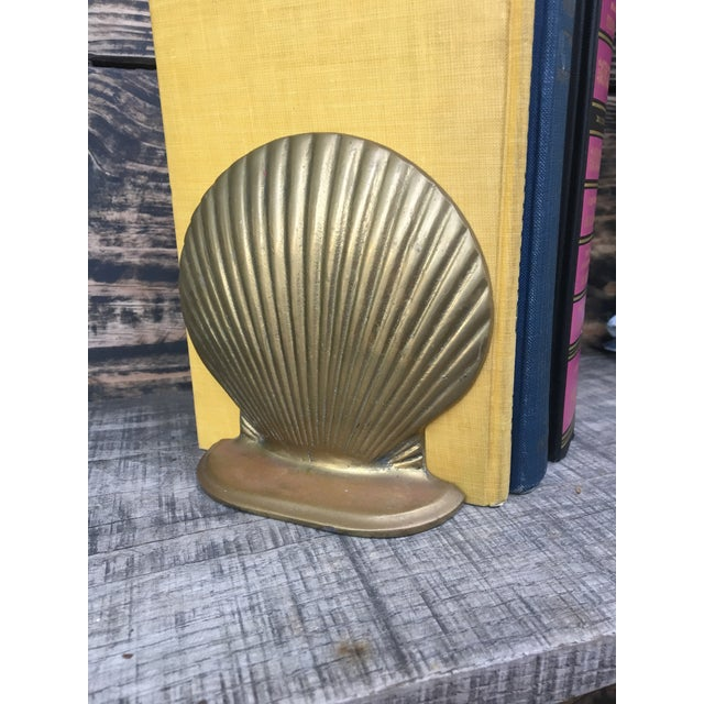 Vintage Brass Shell Bookends - A Pair - Image 7 of 7