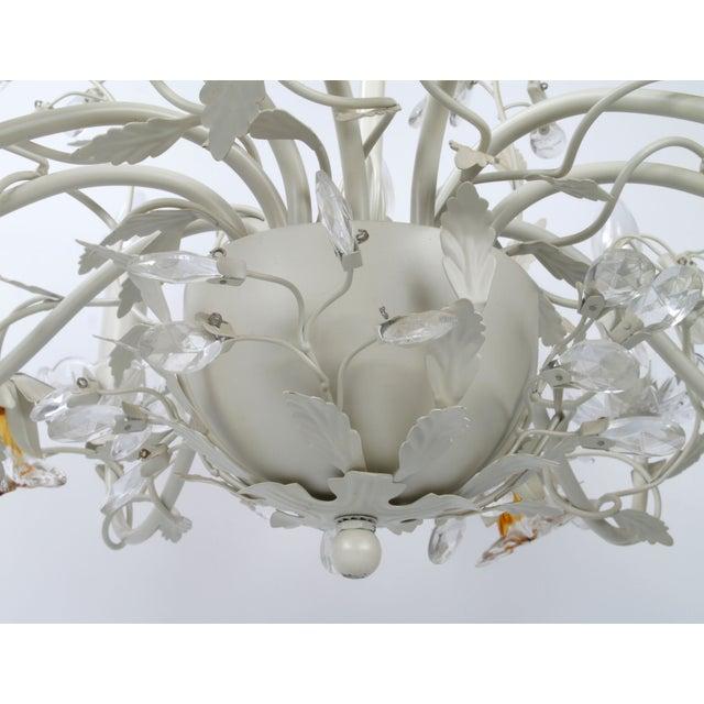White Metal & Crystal Italian Chandelier - Image 6 of 11