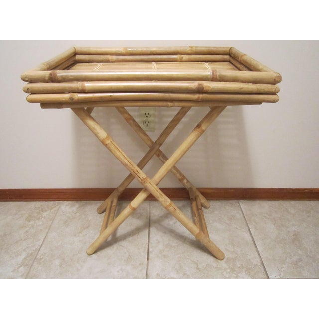 Bamboo & Rattan Table Tray - Image 2 of 11