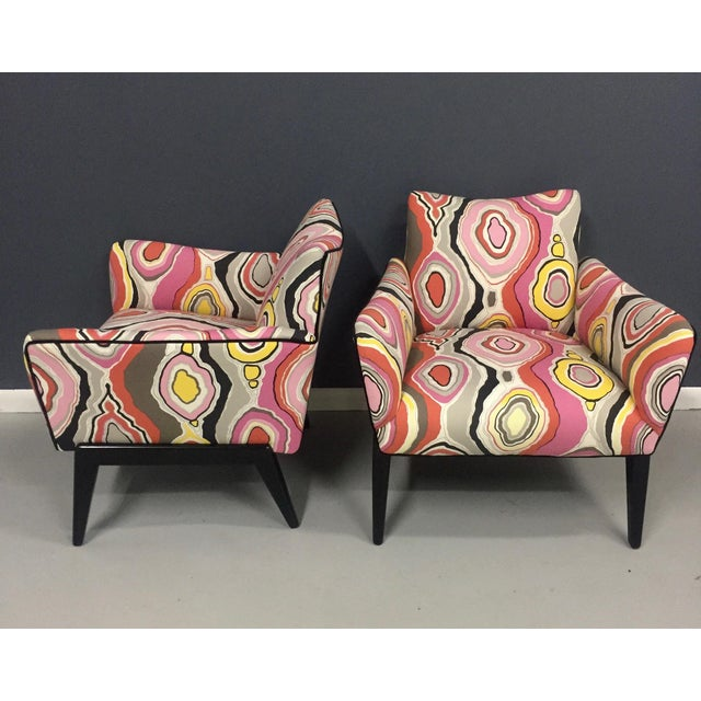 Italian Mid Century Lounge Chairs in the Style of Ico Parisi - a Pair - Image 5 of 9