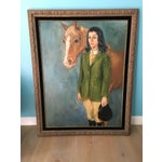 Image of Equestrian Oil Painting