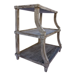 Rustic 3-Tier Side Table