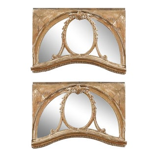 Pair of 19th Century English Architectural Windows with Newly Distressed Mirrors