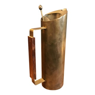 Italian Brass Cocktail Shaker