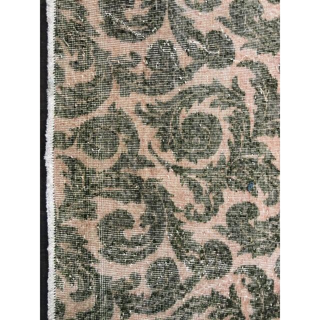 """Vintage Zeki Muren Turkish Distressed Rug- 5'6"""" x 8'10"""" - Image 4 of 7"""