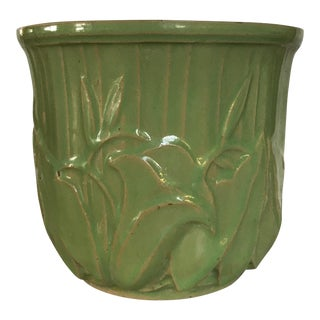 Green Leaf Motif McCoy Planter