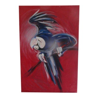 Flying Blue Parrot Original Painting