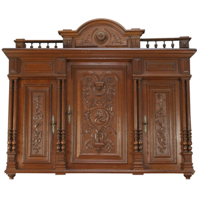 Antique French Renaissance Carved Buffet Server - Image 2 of 8