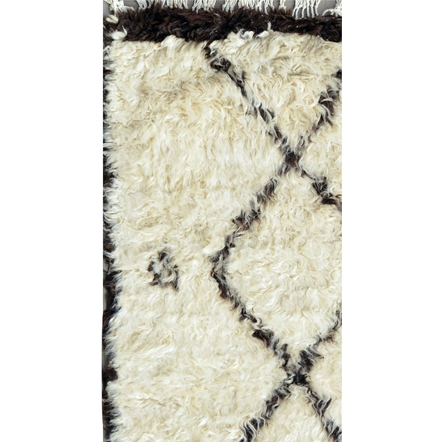 "Moroccan Lamb's Wool Runner - 2'7"" X 6'4"" - Image 2 of 2"