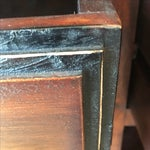 Image of Bamboo Inlay Wood & Glass Bureau