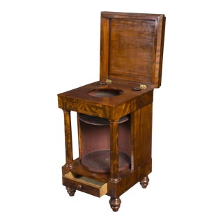 Mahogany Neoclassical Basin Stand with Columns