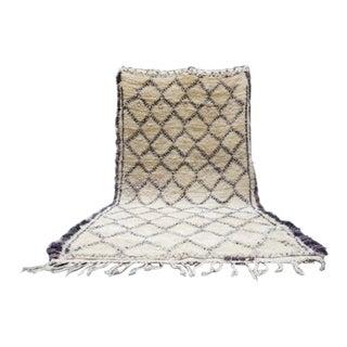 Moroccan Beni Ourain Berber Carpet - 6′2″ × 11′7″