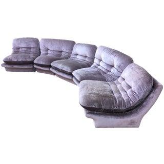1980s Lilac Vladimir Kagan Modular Sofa