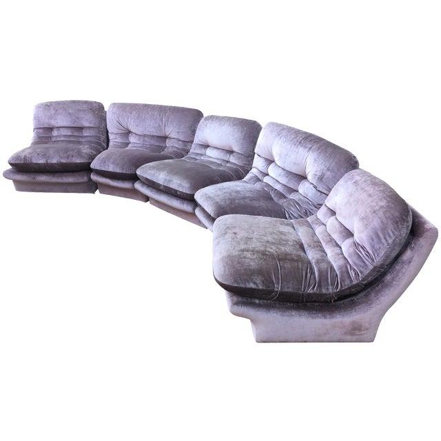 1980s Lilac Vladimir Kagan Modular Sofa Chairish