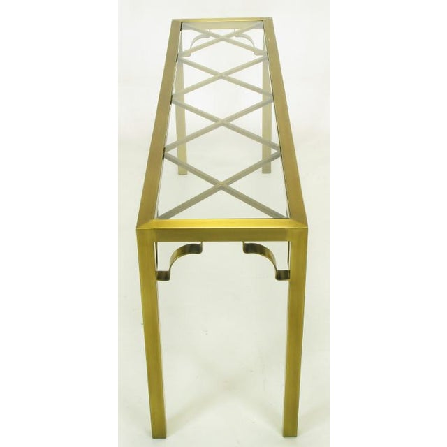 Mastercraft Brass Chinese Chippendale Console Table - Image 5 of 8