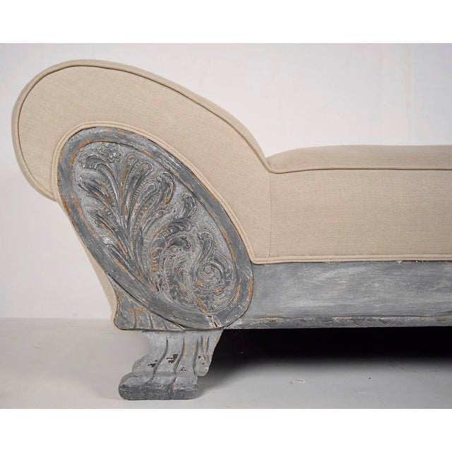 Vintage Painted Empire Chaise Longue - Image 5 of 7
