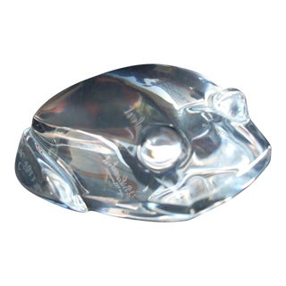 French Crystal Frog Figurine