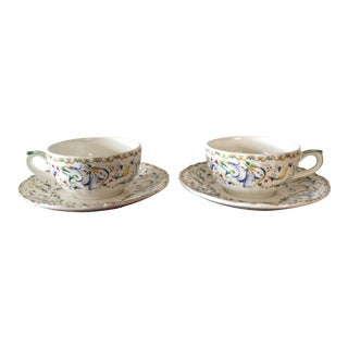 Gien France Toscana Teacup & Saucer - A Pair