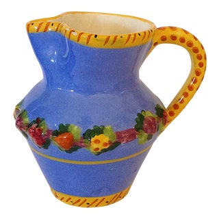 Italian Blue and Yellow Pitcher