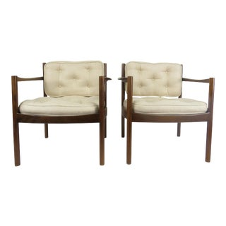 Danish Walnut Armchairs - A Pair