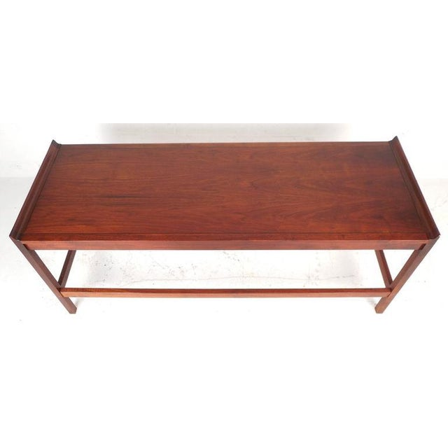 Mid-Century American Walnut Console Table - Image 4 of 5