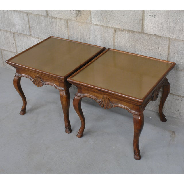 Image of Vintage Brass Hoof Feet Tables - A Pair