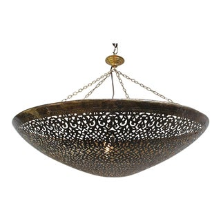 Brass Work Moroccan Dish Lantern