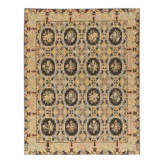 """Pasargad Aubusson Hand Woven Wool Rug - 8' 1"""" X 10' 1"""""""