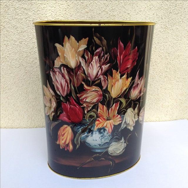 Vintage Tulip Wastebasket - Image 3 of 8