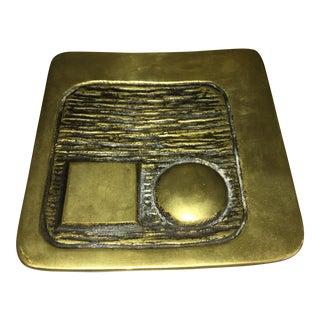 Itau Seguros Bronze Abstract Sculpture
