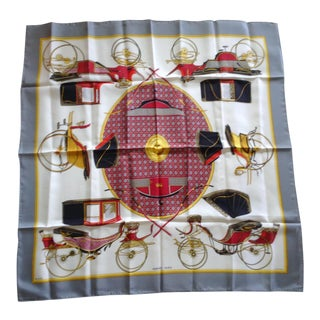 Hermes Les Voitures a Transformation Scarf