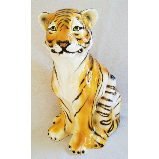 Large Mid-Century Porcelain Italian Tiger - Image 2 of 11