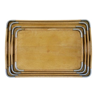 1940s Japan Wooden Nesting Trays - Set of 4