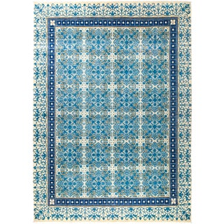 """Suzani Hand Knotted Area Rug - 9'2"""" X 12'10"""""""