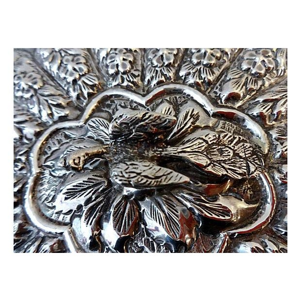 Large Silver Hand Mirror - Image 5 of 6