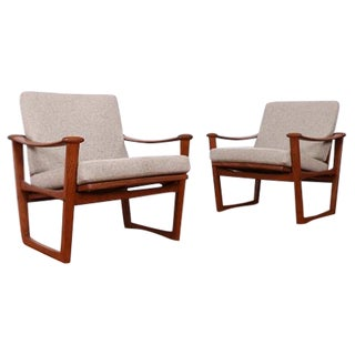 M. Nissen Horsens Danish Teak Lounge Chairs- A Pair