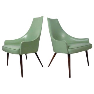 Mid-Century Highback Armchairs - a Pair