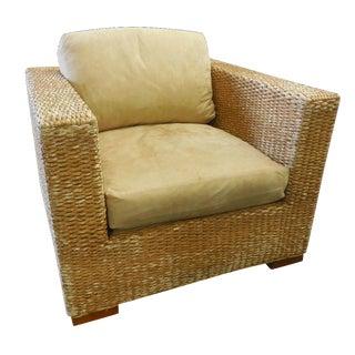 Kreiss Banana Leaf Wicker Chair & Ottoman