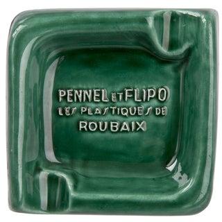 French Pennel Et Flipo Green Porcelain Ashtray